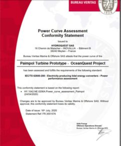 IEC 62600-200 – Power curve certified